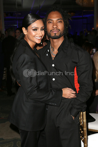 LOS ANGELES, CA - NOVEMBER 8: Nazanin Mandi and Miguel at the Eva Longoria Foundation Dinner Gala honoring Zoe Saldaña and Gina Rodriguez at The Four Seasons Beverly Hills in Los Angeles, California on November 8, 2018. Credit: Faye Sadou/MediaPunch