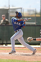 Andres James of the Texas Rangers  plays in a minor league spring training game against the San Diego Padres at the Rangers complex on March 26, 2011  in Surprise, Arizona. .Photo by:  Bill Mitchell/Four Seam Images.