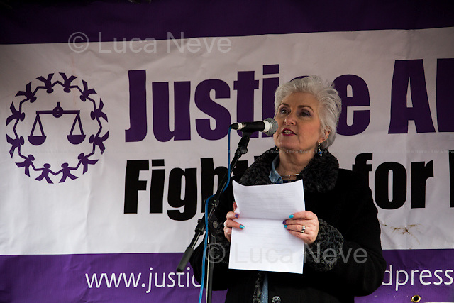 Michelle Bates (Sister of Barry George, wrongly convicted on 2 July 2001 of the murder of British television presenter Jill Dando).<br />