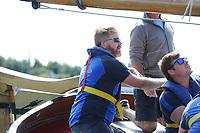 ZEILSPORT: GROU: 05-08-2017, SKS Skûtsjesilen, Skûtsje Joure de 'oeral thûs', schipper Dirk Jan Reijenga, ©foto Martin de Jong