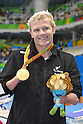 LESLIE Cameron Leslie (NZL), <br /> SEPTEMBER 12, 2016 - Swimming : <br /> Men's 150m Individual Medley SM4 Medal Ceremony <br /> at Olympic Aquatics Stadium<br /> during the Rio 2016 Paralympic Games in Rio de Janeiro, Brazil.<br /> (Photo by AFLO SPORT)