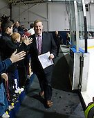 Jim Logue (BC - Assistant Coach) - The Merrimack College Warriors defeated the Boston College Eagles 5-3 on Sunday, November 1, 2009, at Lawler Arena in North Andover, Massachusetts splitting the weekend series.