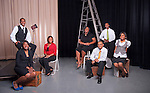 Urban Scholars Group Portrait for Ohio Today..Left to right:..Tiera Evans, Micha Brown, Angelic Pinckney, Sherrell Davis,Garret Kisner, Steven Collier, and Alyssa Green.