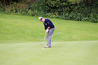 John Phelan (Waterford) on the 5th green during the AIG Jimmy Bruen Shield Final between Lisselan &amp; Waterford in the AIG Cups &amp; Shields at Carton House on Saturday 20th September 2014.<br /> Picture:  Thos Caffrey / www.golffile.ie