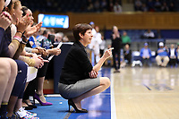 DURHAM, NC - JANUARY 16: Head coach Muffet McGraw of Notre Dame University during a game between Notre Dame and Duke at Cameron Indoor Stadium on January 16, 2020 in Durham, North Carolina.