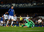 Gylfi Sigurdsson of Everton send s the ball just wide of the post during the Europa League Group E match at Goodison Park Stadium, Liverpool. Picture date: September 28th 2017. Picture credit should read: Simon Bellis/Sportimage