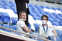 4th July 2020; Lyon, France; French League 1 friendly due to the Covid-19 pandemic forced league ending;   Vincent Ponsot (director general adjoint) and Juninho (sporting director)