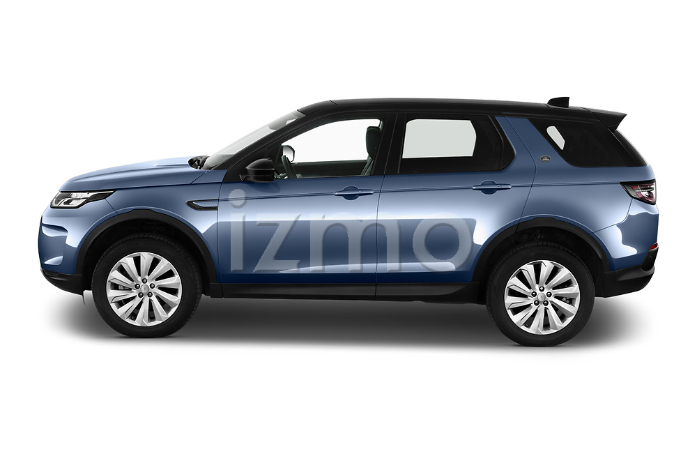Car driver side profile view of a 2020 Land Rover Discovery Sport S 5 Door SUV