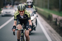 Jack Haig (AUS/Michelton-Scott) smiling along the way<br /> <br /> 58th De Brabantse Pijl 2018 (1.HC)<br /> 1 Day Race: Leuven - Overijse (BEL/202km)