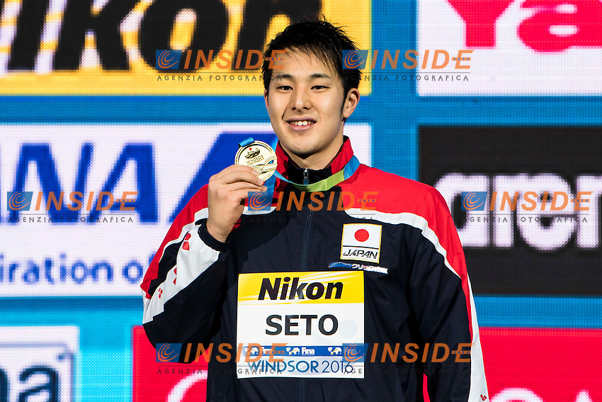 SETO Daiya JPN Gold Medal<br /> Men's 400m Individual Medley<br /> 13th Fina World Swimming Championships 25m <br /> Windsor  Dec. 10th, 2016 - Day05 Final<br /> WFCU Centre - Windsor Ontario Canada CAN <br /> 20161210 WFCU Centre - Windsor Ontario Canada CAN <br /> Photo &copy; Giorgio Scala/Deepbluemedia/Insidefoto