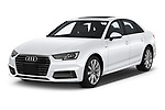 2018 Audi A4 Premium 4 Door Sedan angular front stock photos of front three quarter view