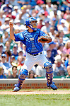 3 July 2005: Michael Barrett, catcher for the Chicago Cubs, behind the plate during a game against the Washington Nationals. The Nationals defeated the Cubs 5-4 in 12 innings to sweep the 3-game series at Wrigley Field in Chicago, IL. Mandatory Photo Credit: Ed Wolfstein