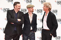 "Julian Barratt, Sean Foley and Simon Farnby<br /> at the London Film Festival 2016 premiere of ""Mindhorn"" at the Odeon Leicester Square, London.<br /> <br /> <br /> ©Ash Knotek  D3167  09/10/2016"