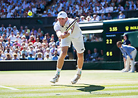 Kevin Anderson (RSA) in action during the Gentlemen's Singles Final against Novak Djokovic (SRB)