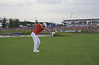 Chris Wood (ENG) on the 18th fairway during Round 4 of the HNA Open De France at Le Golf National in Saint-Quentin-En-Yvelines, Paris, France on Sunday 1st July 2018.<br /> Picture:  Thos Caffrey | Golffile