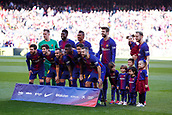 18th March 2018, Camp Nou, Barcelona, Spain; La Liga football, Barcelona versus Athletic Bilbao; FC Barcelona line-up photo