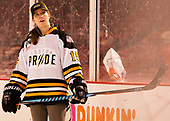 "Emily Field - Members of the Boston Pride helped put on a clinic for ""Women's and Girls' Hockey Day on Tuesday, January 10, 2017, at Fenway Park in Boston, Massachusetts.The Boston College Eagles defeated the Harvard University Crimson 3-1 on Tuesday, January 10, 2017, at Fenway Park."