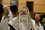 Israel, Bnei Brak. The Synagogue of the Premishlan congregation, Simchat Torah (on the eights day of Succot), the Rebbe<br />