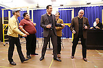 """Nick Cordero and cast during the open press rehearsal for """"A Bronx Tale - The New Musical""""  at the New 42nd Street Studios on October 21, 2016 in New York City."""