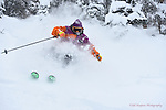Wolf Creek Ski School Director Jon King  ripping up  deep December powder