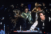 Star Wars: Episode VI - Return of the Jedi (1983) <br /> Harrison Ford, Carrie Fisher, Mark Hamill, Anthony Daniels &amp; Peter Mayhew<br /> *Filmstill - Editorial Use Only*<br /> CAP/KFS<br /> Image supplied by Capital Pictures