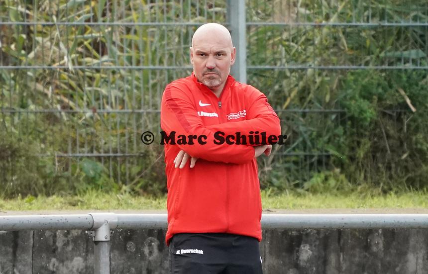 Trainer Matthias Dworschak (Büttelborn) - Büttelborn 03.10.2019: SKV Büttelborn vs. FSG Riedrode, Gruppenliga Darmstadt