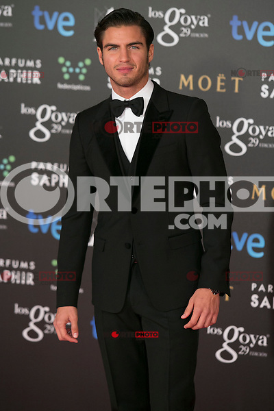 Maxi Iglesias attend the 2015 Goya Awards at Auditorium Hotel, Madrid,  Spain. February 07, 2015.(ALTERPHOTOS/)Carlos Dafonte) /NORTEphoto.com