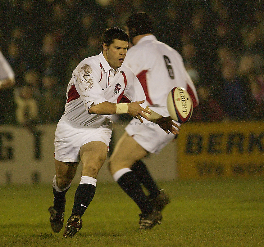 Picture: Henry Browne.Date: 14/02/2003.England U21 v France U21 Six Nations.Danny Hipkiss of England