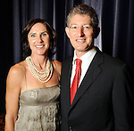 Heidi and David Gerger at the Holocaust Museum Houston's 2010 Lyndon Baines Johnson Moral Courage Award Dinner at the Hilton Americas Houston Monday May 03,2010.  (Dave Rossman Photo)