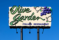 Olive Garden restaurant sign, Kissimmee, Florida, USA.
