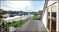BNPS.co.uk (01202 558833)<br /> Pic: Waterview/BNPS<br /> <br /> Sweeping views...<br /> <br /> Does this idyllic waterside property on a private island in the Thames shiver your timbers??<br /> <br /> Stunning riverside home Osiris is perched on historic Pharoah's island, gifted to Admiral Nelson after his victory at the Battle of the Nile.<br /> <br /> And the &pound;1.125million property will probably only appeal to nautical homebuyers, as it comes with a catch - the new owner can only get to their house by boat.<br /> <br /> Pharoah's Island, sits in the Thames near Shepperton, Surrey, was purchased by a grateful Treasury and given to Admiral Horatio Nelson after the famous Battle in 1798.<br /> <br /> Most of the island's homes have Egyptian names and the four-bedroom Osiris, named after the Egyptian god of the dead, is now up for sale with estate agents Waterview.