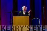 Uachtaran na hÉireann Micheal D. Ó hUigínn opening the Ceolchoirm 'Mórtas Cine' during Scoil Cheoil an Earraigh at Halla na Feothanaí on Friday night.