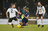 7th March 2020; Somerset Park, Ayr, South Ayrshire, Scotland; Scottish Championship Football, Ayr United versus Dundee FC; Declan McDaid of Dundee is fouled by Aaron Muirhead of Ayr United