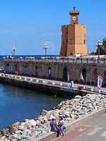 Wachturm Torre Cinquecentesca am Hafen, Rio Marina, Elba, Region Toskana, Provinz Livorno, Italien, Europa<br /> wachtower Torre Cinquecentesca, port, Rio Marina, Elba, Region Tuscany, Province Livorno, Italy, Europe