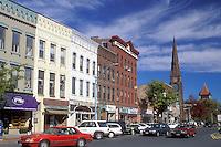 Northampton, Massachusetts, MA, Main Street in downtown Northampton in the autumn.