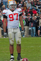 Cameron Heyward, Ohio State Defensive End. The Purdue Boilermakers defeated the Ohio State Buckeyes 26-18 at Ross-Ade Stadium, West Lafayette, Indiana on October 17, 2009.