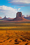 View of Monument Valley from Artist's Point on the border of Utah and Arizona.