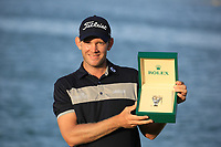 Joachim B Hansen (DEN) winner of the Rolex Special Award after the final round of the Ras Al Khaimah Challenge Tour Grand Final played at Al Hamra Golf Club, Ras Al Khaimah, UAE. 03/11/2018<br /> Picture: Golffile | Phil Inglis<br /> <br /> All photo usage must carry mandatory copyright credit (&copy; Golffile | Phil Inglis)