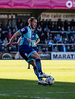 Michael Harriman of Wycombe Wanderers during the Sky Bet League 2 match between Wycombe Wanderers and Notts County at Adams Park, High Wycombe, England on the 25th March 2017. Photo by Liam McAvoy.