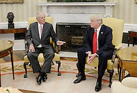 United States President Donald Trump, right, meets with President Pedro Pablo Kuczynski of Peru, left, in the Oval Office of the White House on February 24, 2017 in Washington, DC. Photo Credit: Olivier Douliery/CNP/AdMedia