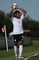 Sheanon Williams (4) of the USA. The US U-20 Men's National Team defeated the U-20 Men's National Team of Costa Rica 2-1 in an international friendly during day four of the US Soccer Development Academy  Spring Showcase in Sarasota, FL, on May 25, 2009.