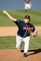 Sean Urena of the Cal State Fullerton Titans during a game against the Arizona Wildcats at Goodwin Field on February 18, 2007 in Fullerton, California. (Larry Goren/Four Seam Images)