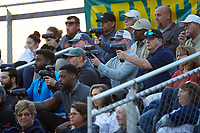 There were plenty of scouts on hand to watch Carson Cougars pitcher Owen White (not pictured) throw in a game against the Central Cabarrus Vikings at Central Cabarrus High School on March 16, 2018 in Concord, North Carolina.  The Cougars defeated the Vikings 9-1.  (Brian Westerholt/Four Seam Images)