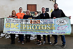 Nikki Reddy from Celtic Adventures presents a voucher to the value of €1500 to Nicola, Jamie and Kevin Bull of team Bull Call who were the winning team for the third year in a row in the Gary Kelly Cancer Support Centre's Land of Legends Adventure run 2017. Also in photo is Ann Tracey Director of Fundraising GKCSC anf Eoin McEvoy of the Land of Legends organizing committee. Photo:Colin Bell/pressphotos.ie