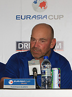 Thomas Bjorn (Captain Team Europe) during a post match interview after winning the Eurasia Cup at Glenmarie Golf and Country Club on the Sunday 14th January 2018.<br /> Picture:  Thos Caffrey / www.golffile.ie