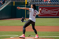 Ali Krieger, First Pitch Nationals, July 25, 2019