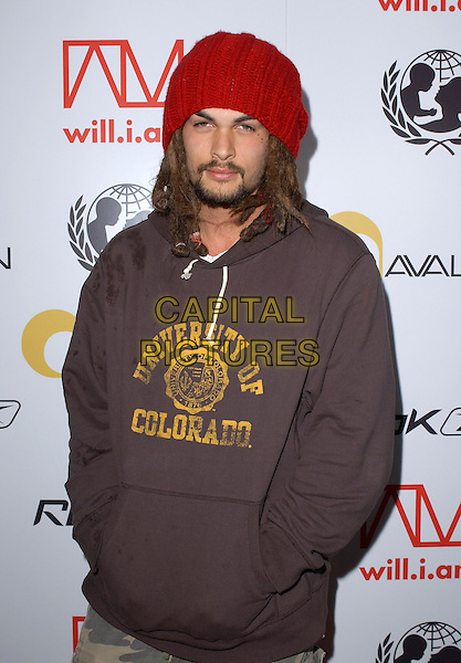 JASON MAMOA.Will.i.am Music Group and RBK's Tsunami Relief Benefit Concert held at Avalon in Hollywood, California .February 11th, 2005.half length hands in pockets university of colarado stained wet dirty dreadlocks hair goatee facial hair.www.capitalpictures.com.sales@capitalpictures.com.Supplied By Capital PIctures