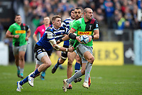 Ross Chisholm of Harlequins in possession. Gallagher Premiership match, between Bath Rugby and Harlequins on March 2, 2019 at the Recreation Ground in Bath, England. Photo by: Patrick Khachfe / Onside Images