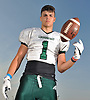 Jeremy Ruckert, standout tight end for Lindenhurst's varsity football team, poses for a portrait at Venetian Shores Park on Tuesday, Aug. 22, 2017.
