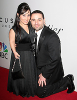 US actress Meredith Eaton arrives with her husband Brian Gordon at the NBC/Universal Pictures/Focus Features Golden Globes after party at the Beverly Hilton Hotel, Beverly Hills, California, USA, on January 11, 2009.  The Golden Globes honour excellence in film and television.